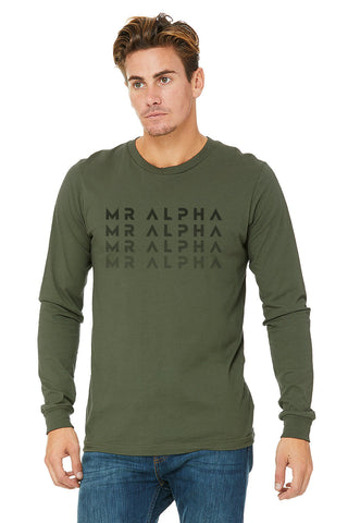 Green Crew Neck Long Sleeve Shirt