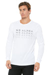 White Crew Neck Long Sleeve Shirt