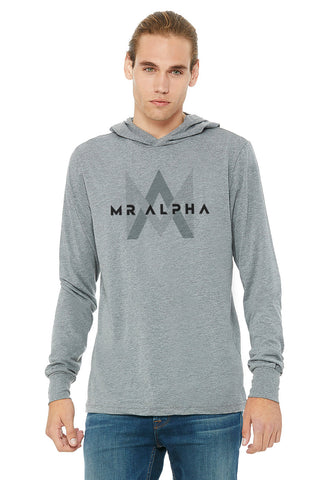 Heather Grey Long Sleeve Hoodie