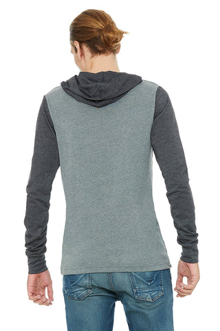 Two Tone Grey Long Sleeve Hoodie