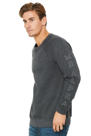 Dark Grey Fleece Raglan Sweatshirt