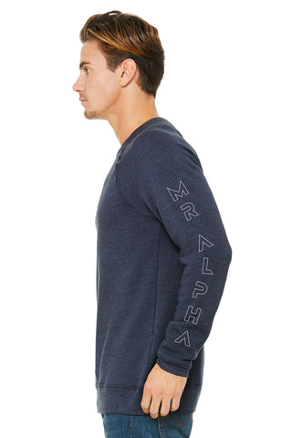Heather Navy Fleece Raglan Sweatshirt
