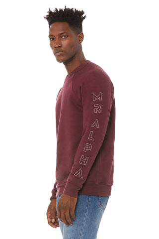 Maroon Fleece Raglan Sweatshirt