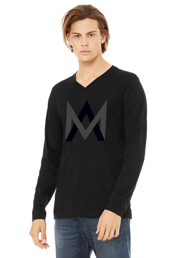 Black Long Sleeve V-Neck Shirt