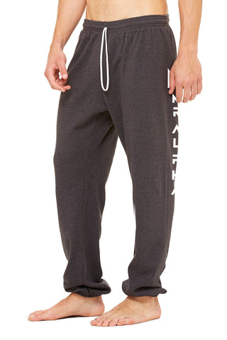 Ankle Scrunch Fleece Sweatpants Dark Grey