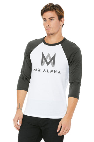 White & Grey Baseball Raglan