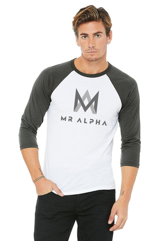 White/Grey Baseball Raglan