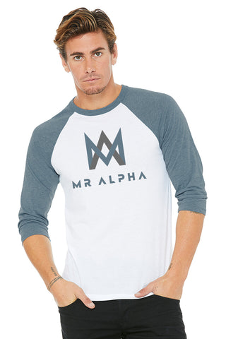 White/Blue Baseball Raglan