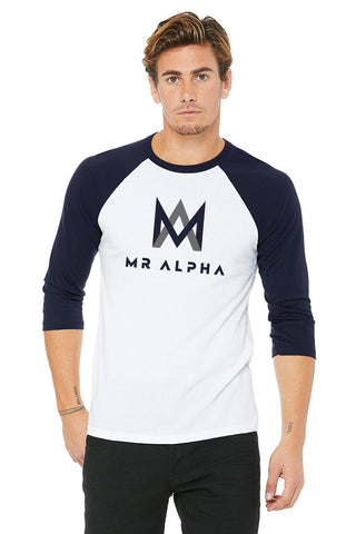 White/Navy Baseball Raglan