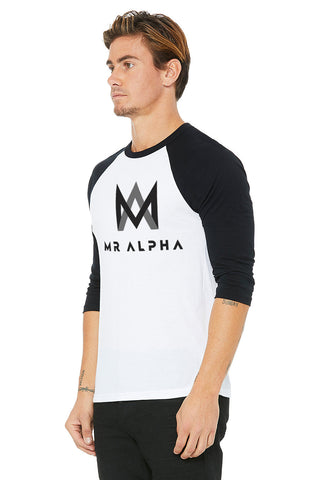 White & Black Baseball Raglan
