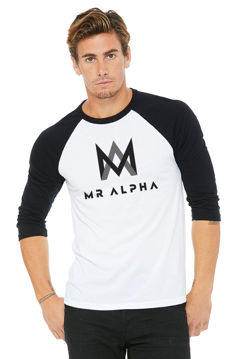 White/Black Baseball Raglan