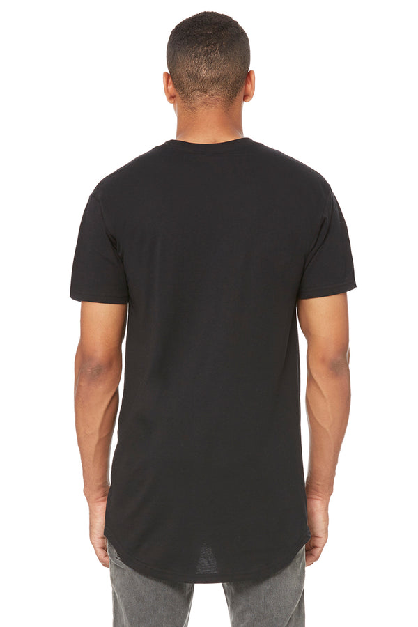Black Short Sleeve Long Body Tee