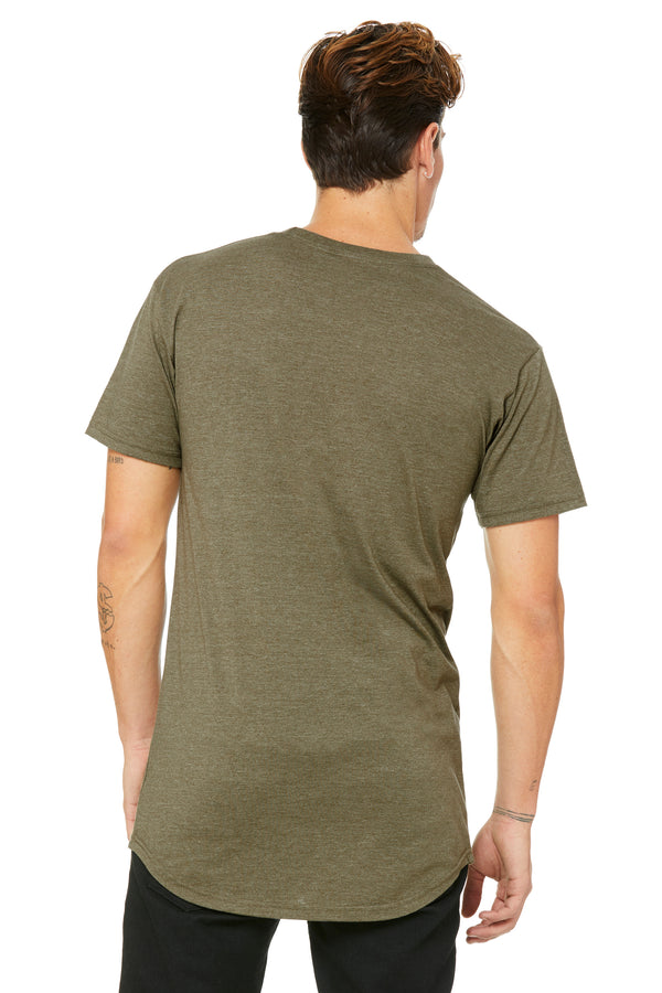 Olive Short Sleeve Long Body Tee