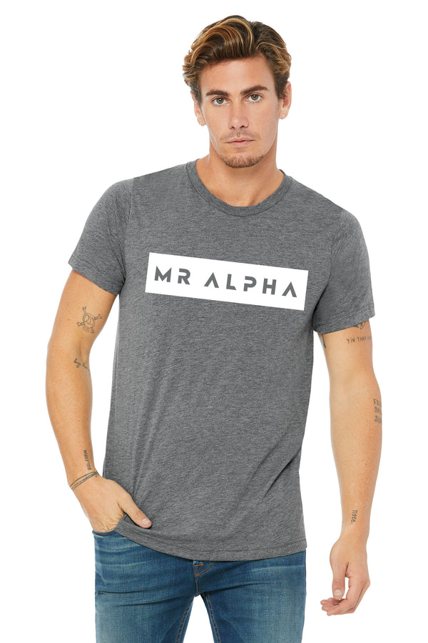 Grey Triblend Short Sleeve Tee