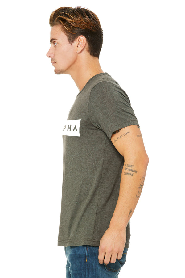 Military Green Triblend Short Sleeve Tee