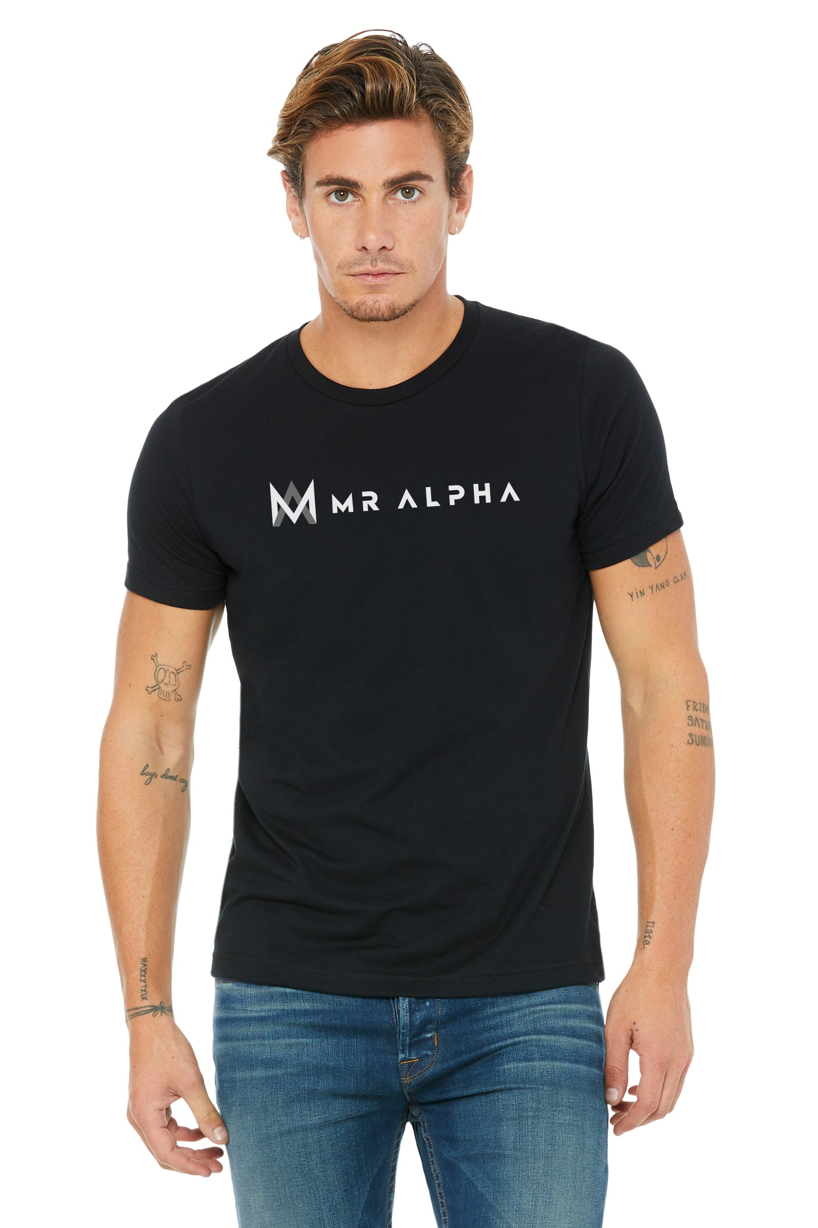 Black Textured Short Sleeve Tee