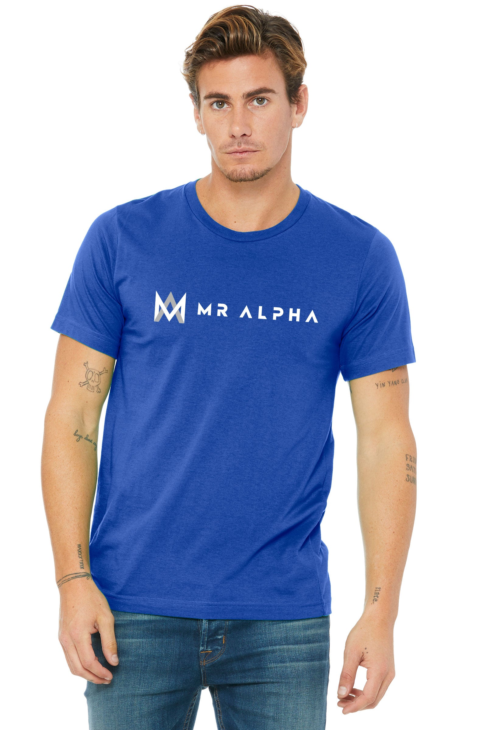 Royal Blue Textured Short Sleeve Tee