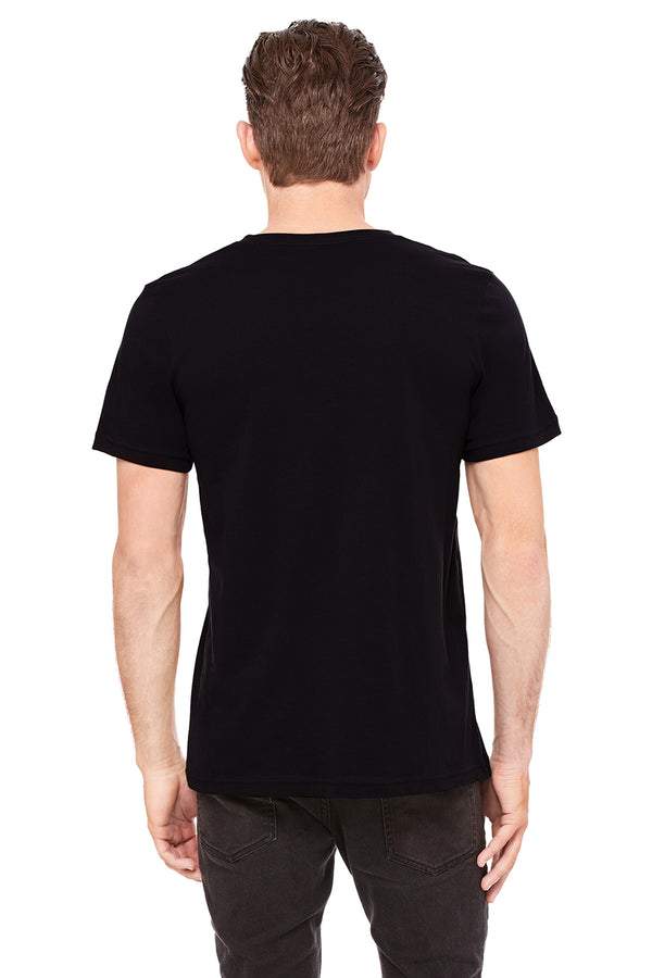 Short Sleeve Jersey V-Neck Black