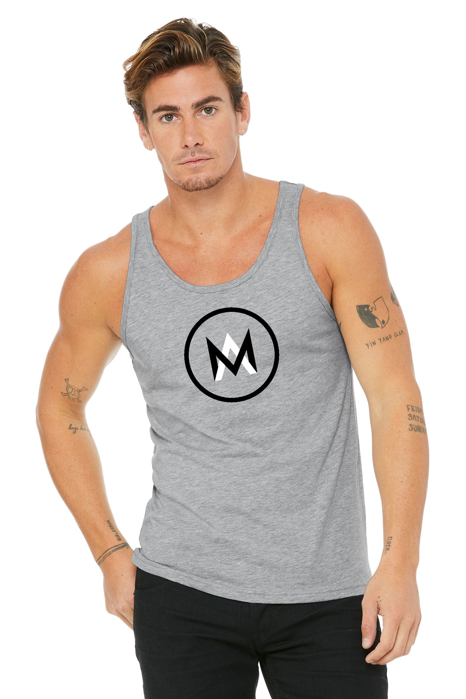 Cotton Tank Top - Dark Grey
