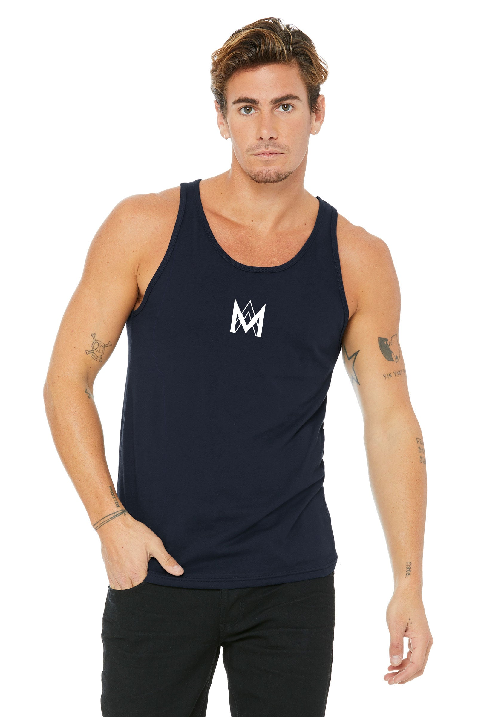 Cotton Tank Top - Navy