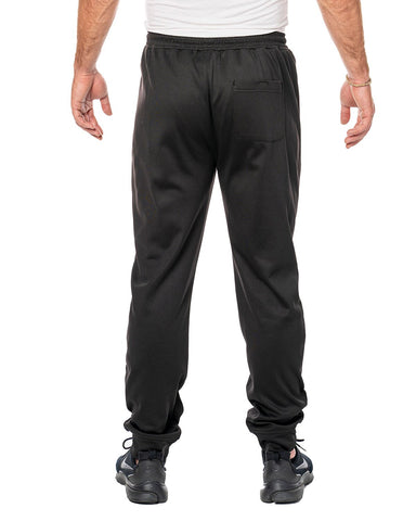 Zipper Pockets Black Joggers