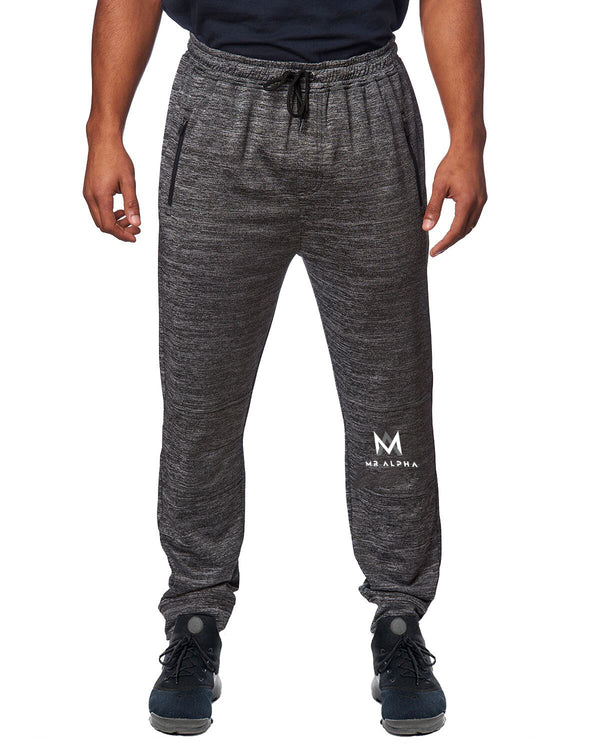 Zipper Pockets Charcoal Joggers
