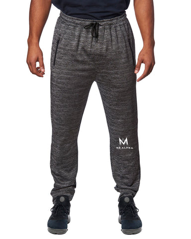 Zipper Pockets Fleece Joggers-Charcoal