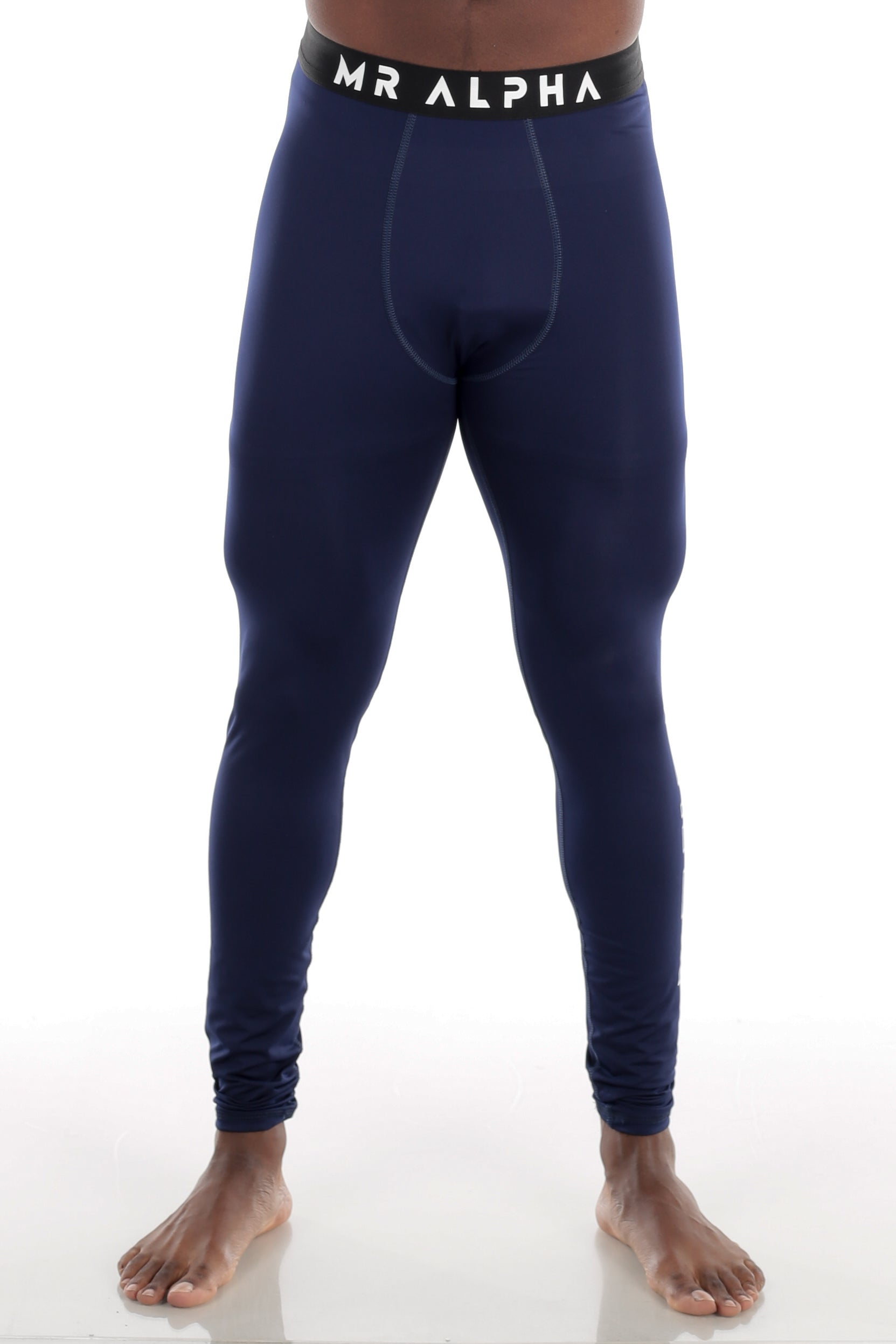 Ankle-Length Compression Tights Navy
