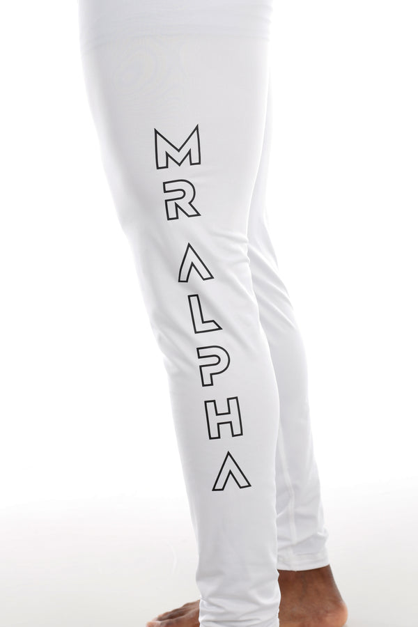 Ankle-Length Compression Tights White