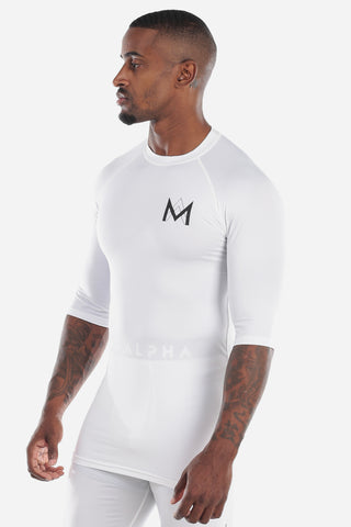 Half Sleeve Compression Shirt - White