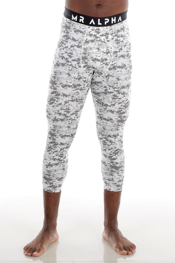 Digi Calf-Length Compression Tights - White