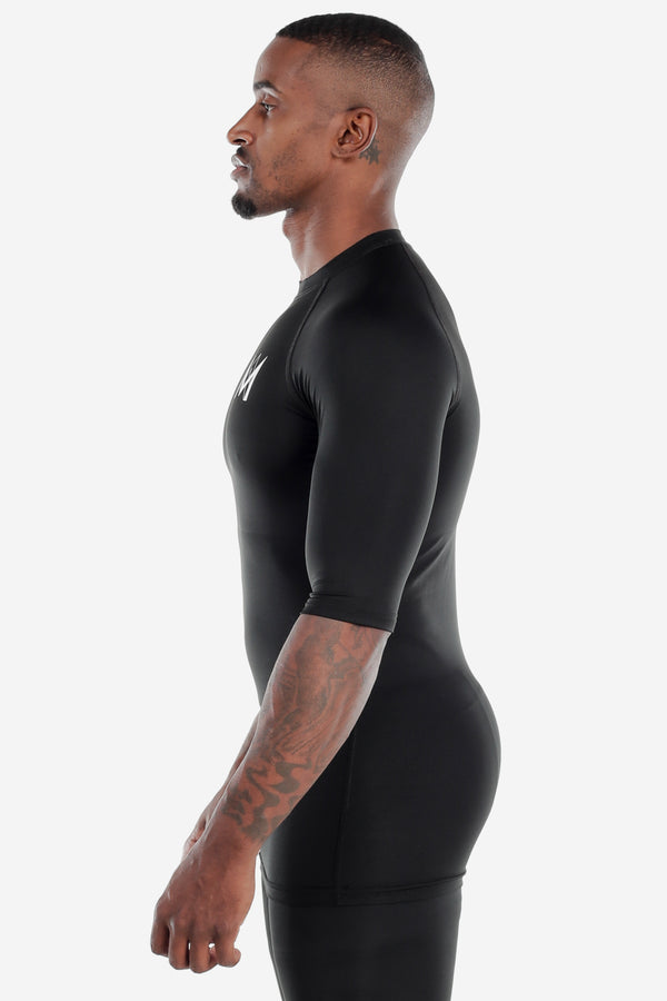 Half Sleeve Compression Shirt Black