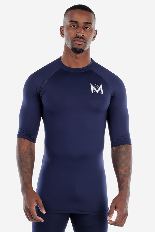 Half Sleeve Compression Shirt Navy