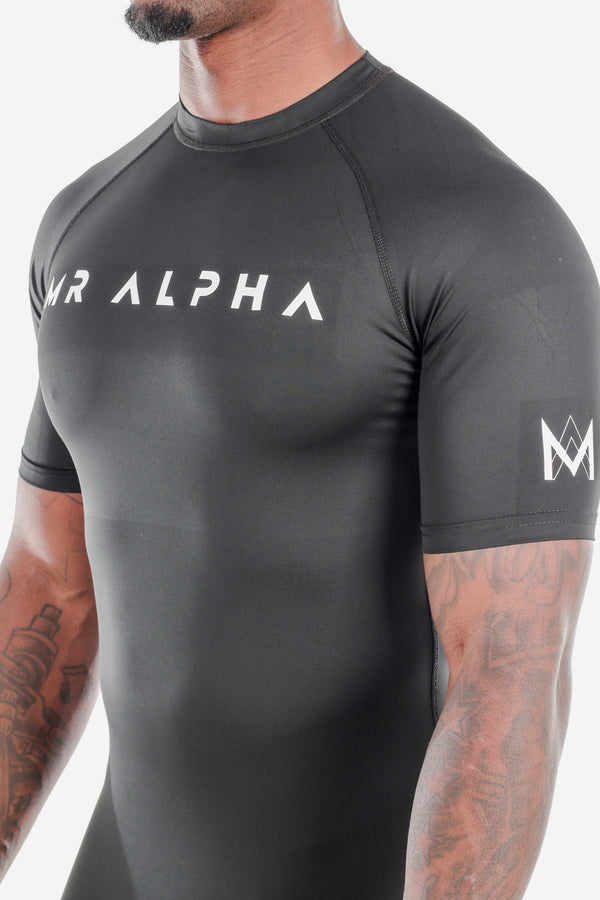 Black Short Sleeve Compression Shirt