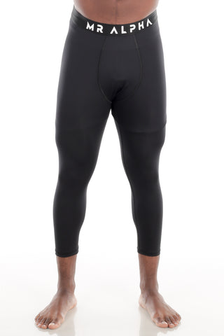 Calf-Length Compression Tights - Black