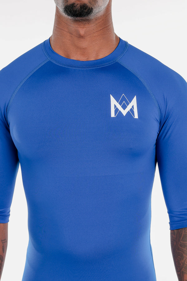 Half Sleeve Compression Shirt Blue