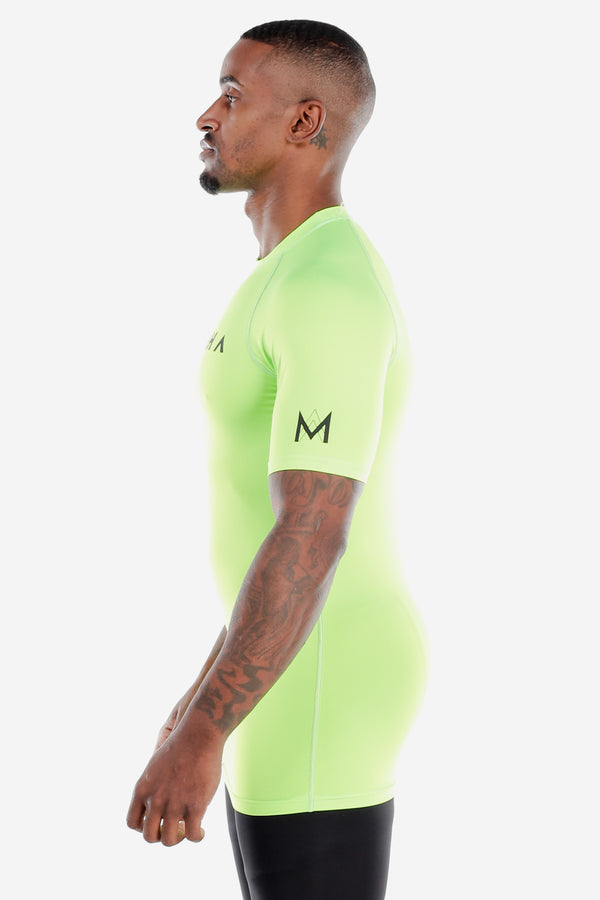 Lime Green Short Sleeve Compression Shirt