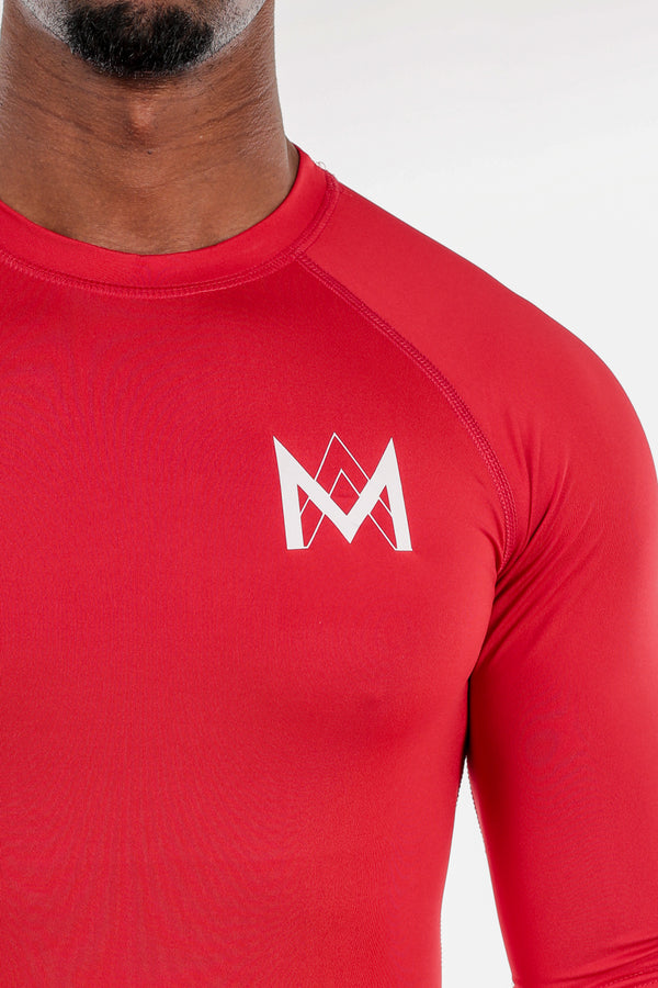 Half Sleeve Compression Shirt Red