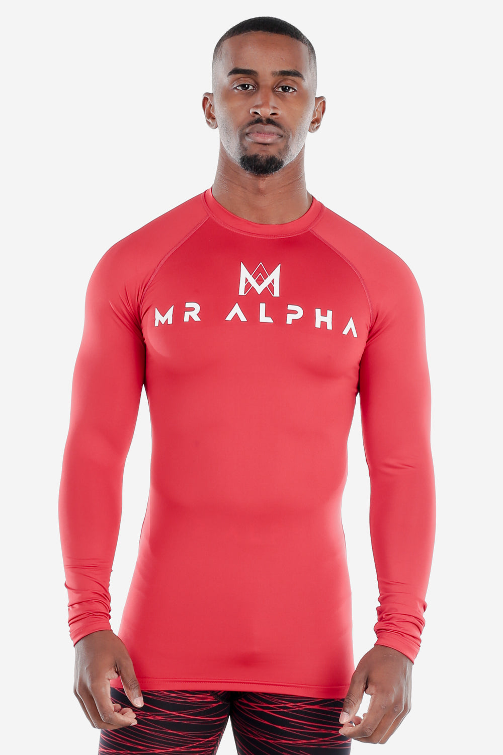 Red Long Sleeve Compression Shirt-Red