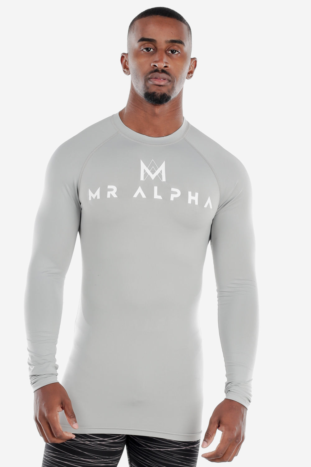 Light Grey Long Sleeve Compression Shirt