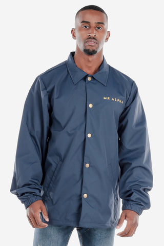 Navy Coach's Windbreaker Jacket