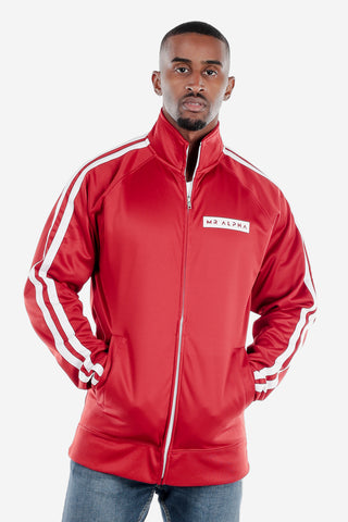 Full Zip Red Track Jacket