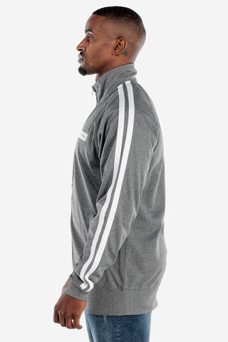 Full Zip Heather Grey Track Jacket