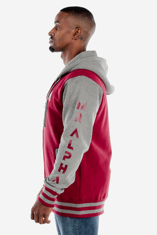 Red/Grey Varsity Jacket
