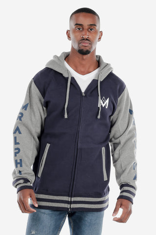 Navy/Grey Varsity Jacket