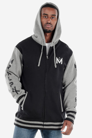 Black/Grey Varsity Jacket