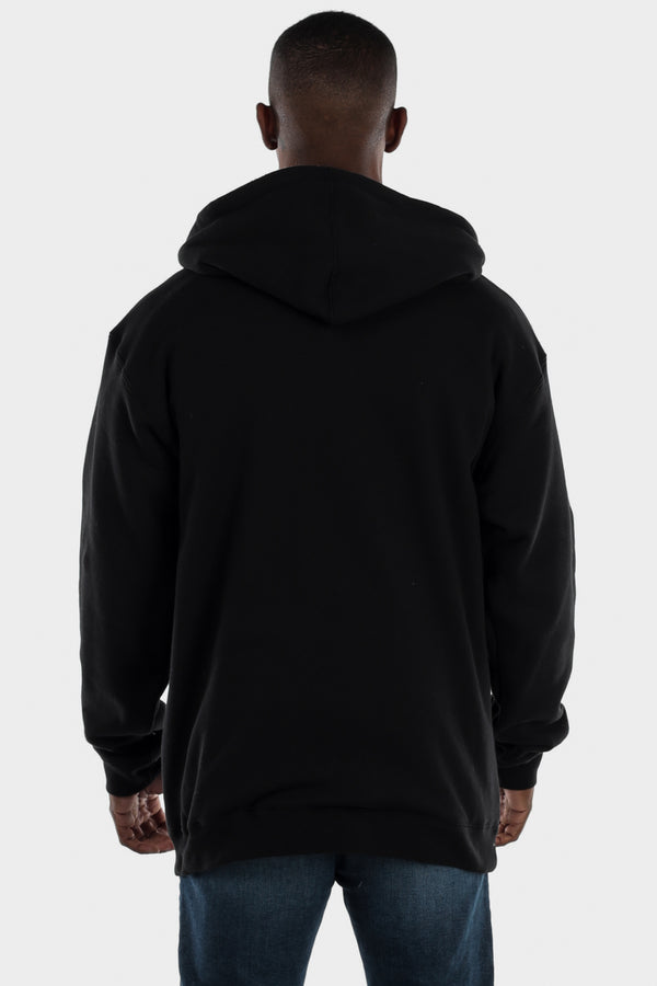 Sherpa Lined Black Hooded Jacket