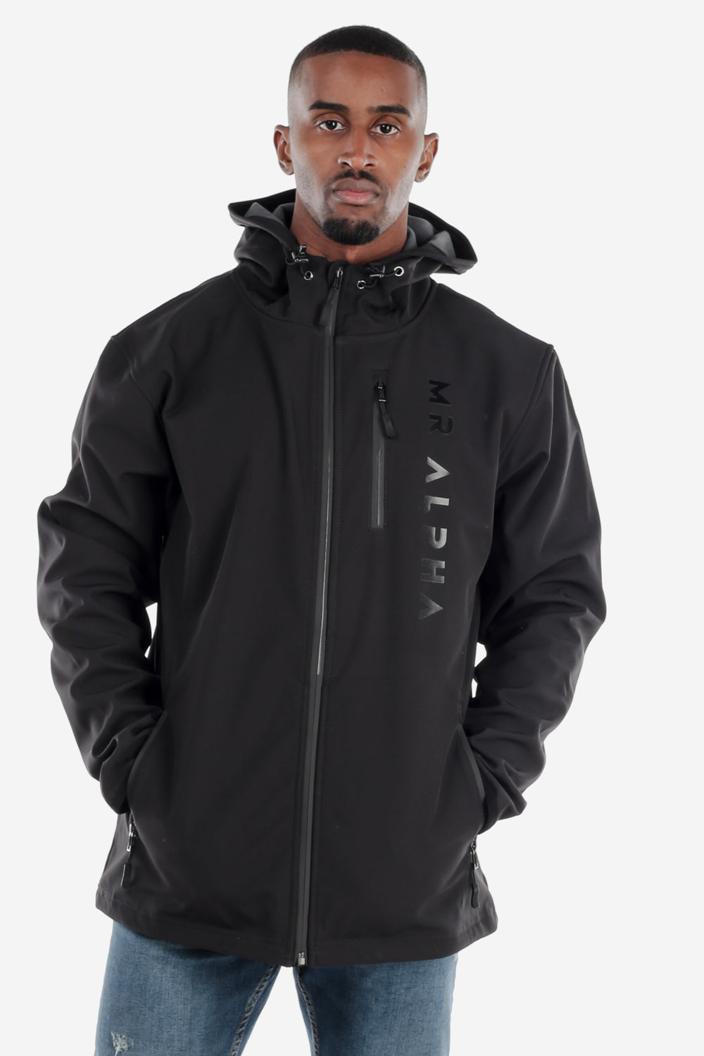 Fleece Lined Softshell Jacket - Black