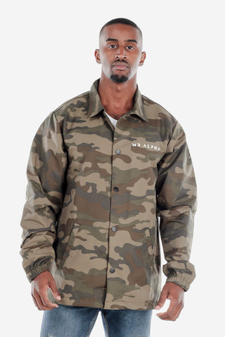 Green Camo Coach's Windbreaker Jacket
