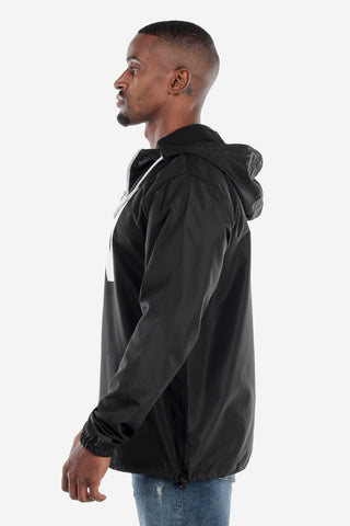 Lightweight Zip Up Windbreaker - Black